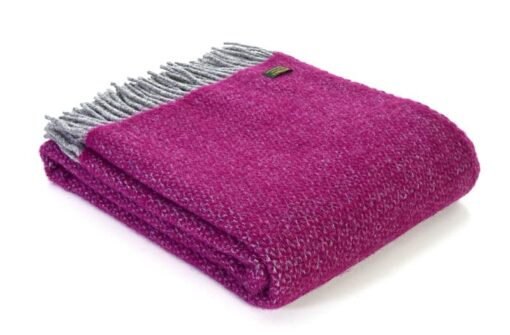 plaid fuchsia roze grijs tweedmill wol