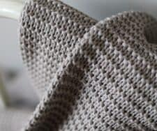 plaid natural beige gebreid linnen katoen