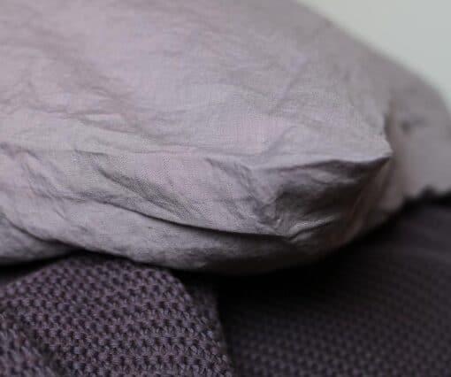 plaid paars gebreid linnen katoen