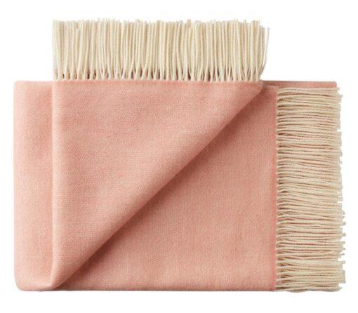 plaid roze merinowol