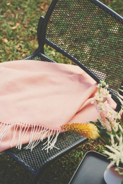 plaid roze wol porto rose taupe