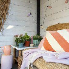 plaid wol lila