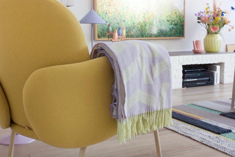 plaid wol lila geel silkeborg