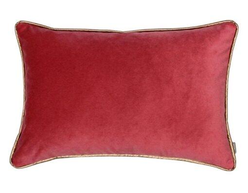 kussen rood rozerood velvet langwerpig