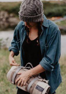 picknickkleed bruin wol