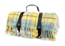 picknickkleed geel ruiten wol