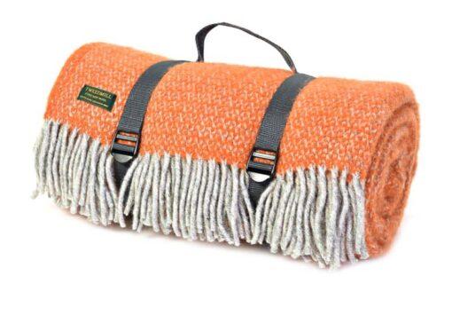 picknickkleed oranje wol
