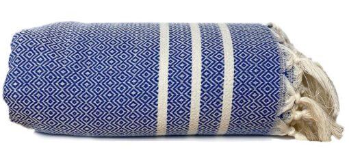plaid blauw katoen diamant stripes