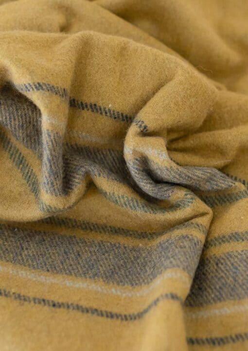 plaid geel okergeel grijs wol