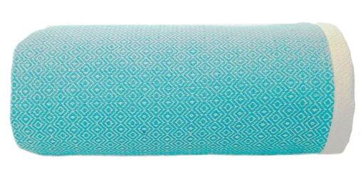 plaid grand foulard turquoise katoen diamant