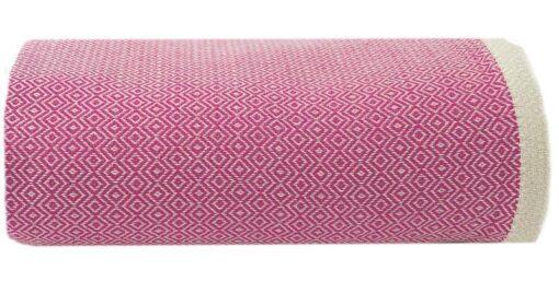plaid roze fuchsia grand foulard sprei katoen