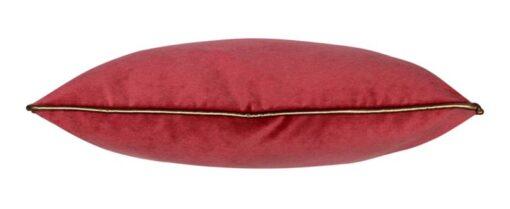 sierkussen roze rood velvet langwerpig