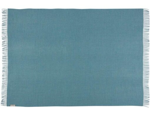 blauwe plaid alpacawol silkeborg ocean