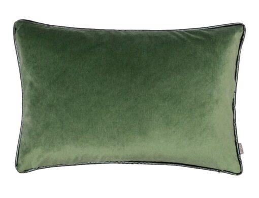kussen groen velvet raaf