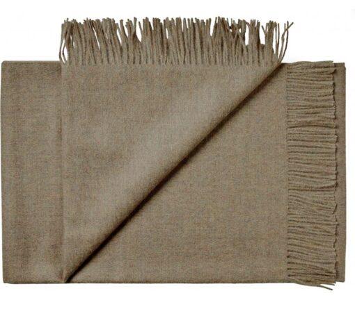 plaid beige zand alpacawol silkeborg