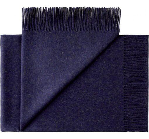 plaid blauw donkerblauw alpacawol silkeborg midnight