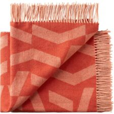 plaid oranje alpaca wol silkeborg orange rose