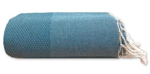 plaid petrol katoen grand foulard