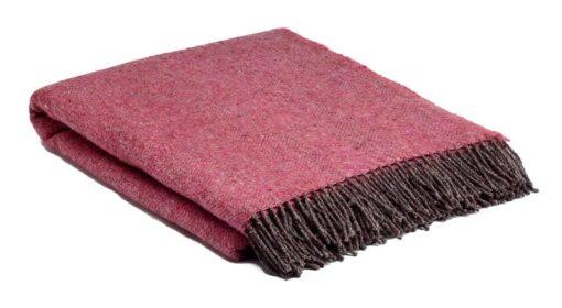 plaid roze fuchsia bruin wol mcnutt