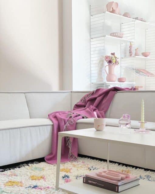 plaid roze wol mcnutt fuchsiaroze