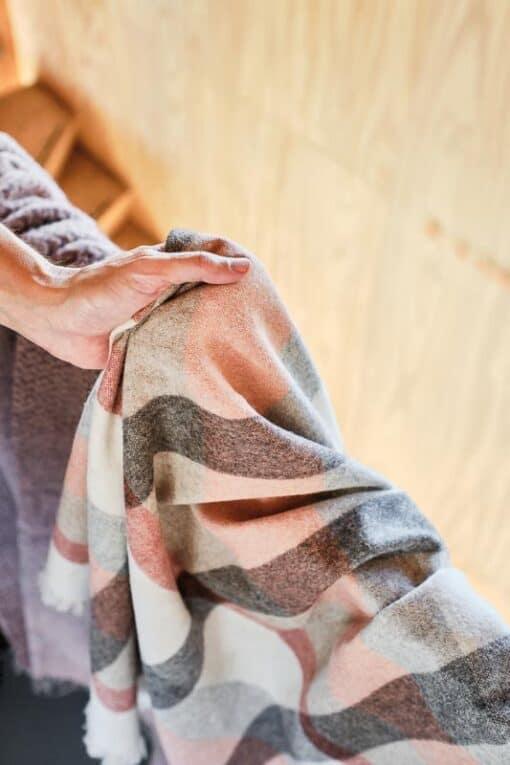 plaid wol terracotta ruiten alpacawol