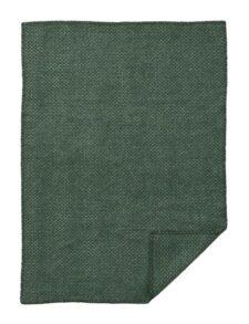 wiegdeken groen donkergroen wol klippan domino