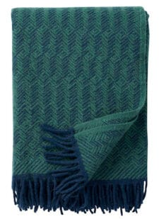 plaid groen blauw wol tage klippan