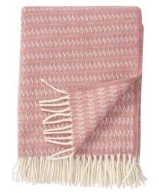plaid roze klippan sumba wol
