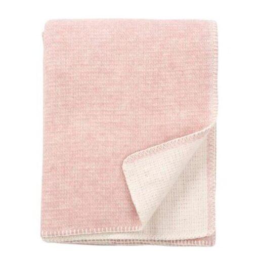 plaid roze lamswol klippan harmony