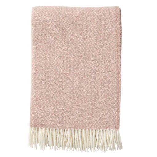 plaid roze lamswol merinowol klippan flow