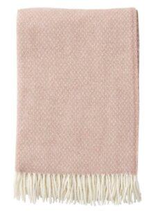 plaid roze nude klippan wol lamswol