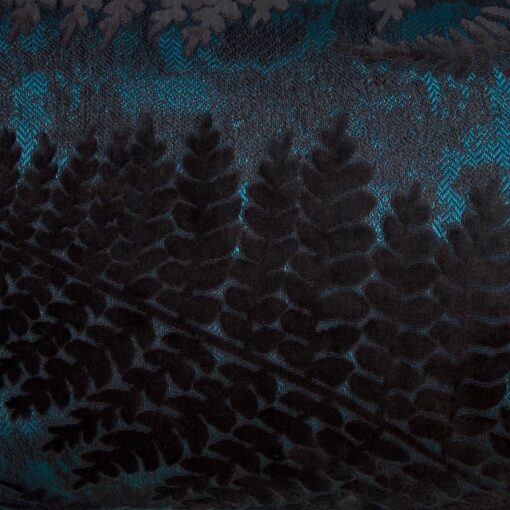 sierkussen blauw varen