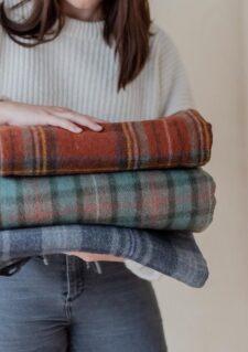 plaids dekens ruiten wol