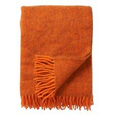 plaid oranje wol gotland klippan
