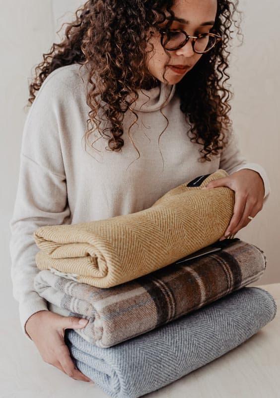 wollen dekens recycled