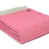 plaid roze fuchsia wol tweedmill boa