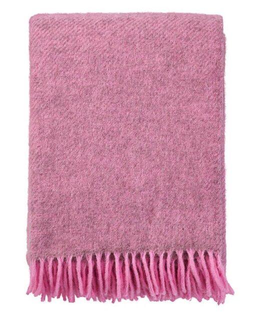 plaid roze wol gotland klippan