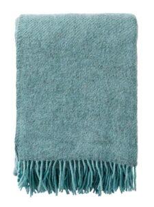 plaid turquoise wol gotland klippan