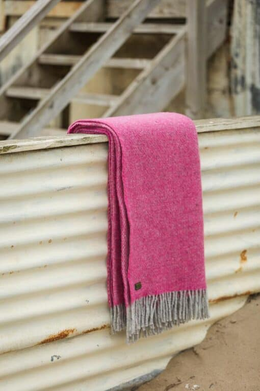 plaid wol roze fuchsia tweedmill boa