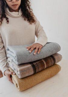 dekens wol tartan blanket