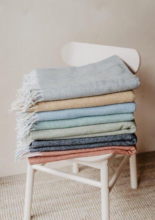 dekens wol visgraat tartan blankets