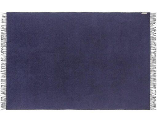 donkerblauwe plaid babyalpacawol