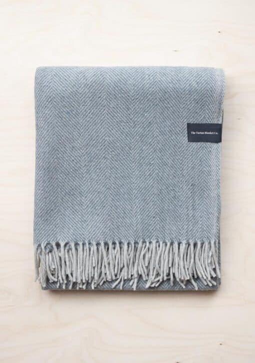 grijze deken visgraat wol