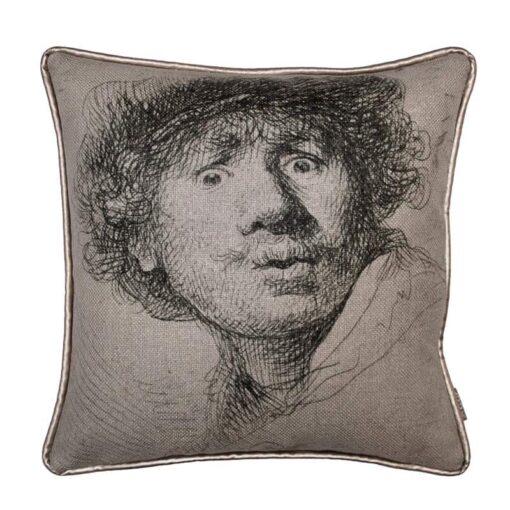 kussen beige Rembrandt raaf