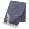 plaid blauw smokey blue lamswol klippan