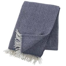 plaid blauw smokey blue lamswol klippan