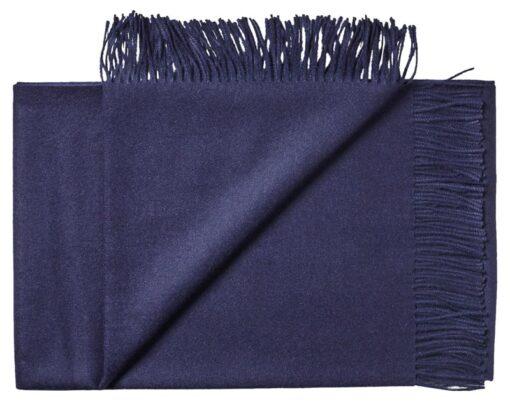 plaid donkerblauw babyalpacawol