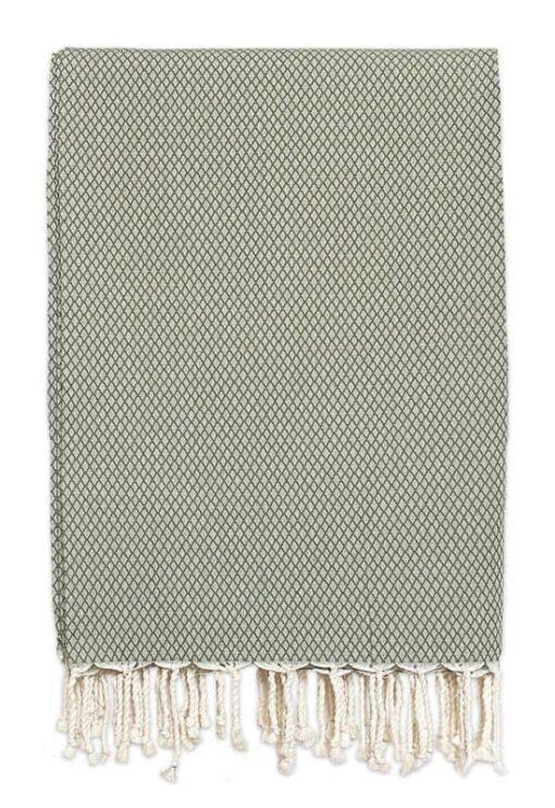 plaid olijfgroen ottoman katoen grand foulard