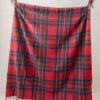 plaid rood ruiten recycled wol