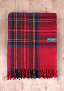 plaid rood ruiten wol recycled